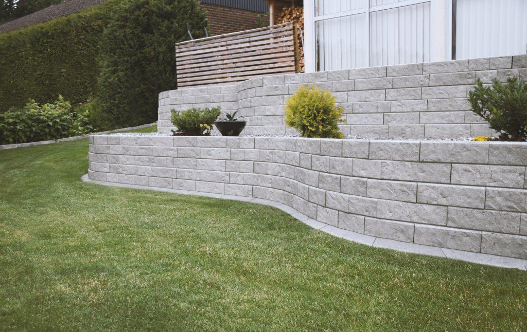 mur trädgård sten